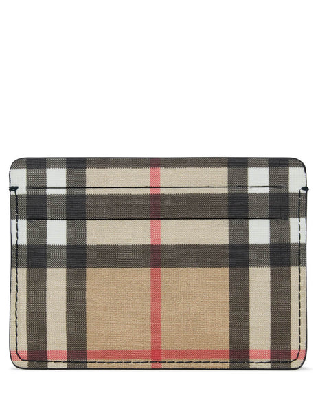 Burberry Women's Giulio Fashion Antique Check E-Canvas Card Case 8016972A1189