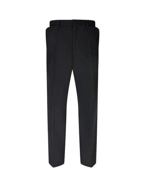 Burberry Men's Giulio Fashion Black English Fit Fold Pocket Tailored Trousers 4559228 A1189