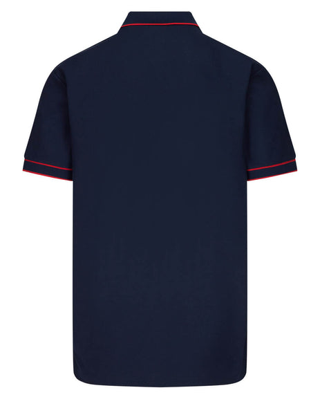 Burberry Men's Navy Icon Placket Polo Shirt 8034074 A1222