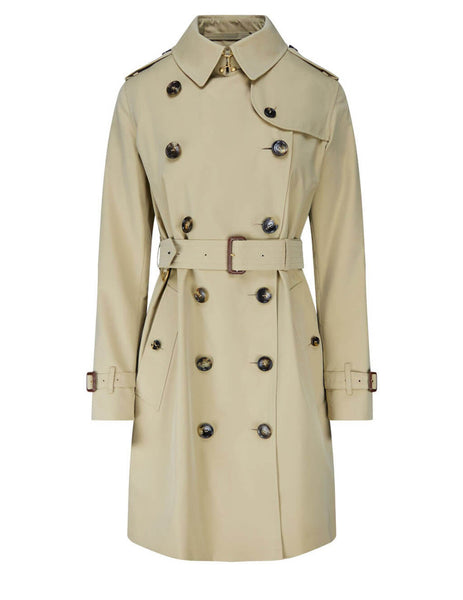 Women's Honey Burberry Kensington Trench Coat 4073373 70500