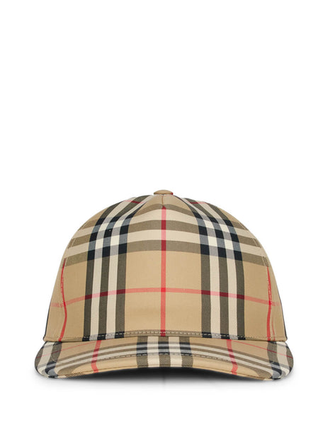 Burberry Men's Beige Logo Detail Baseball Cap 8021444 A7026