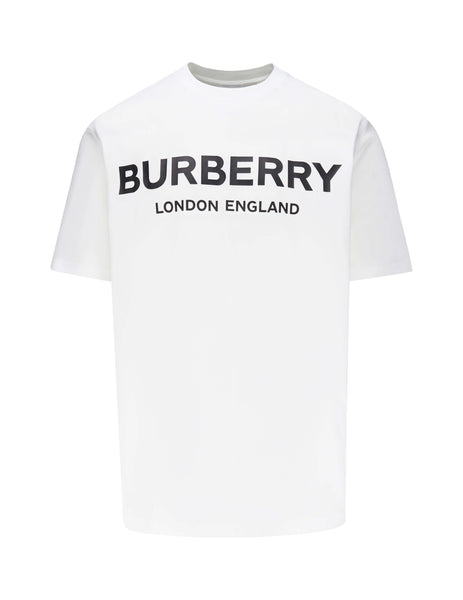 Burberry Men's Giulio Fashion White Logo Print T-Shirt 8009495A1464