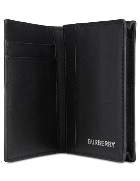 mens burberry london check card case in dark charcoal black 8014514A5656
