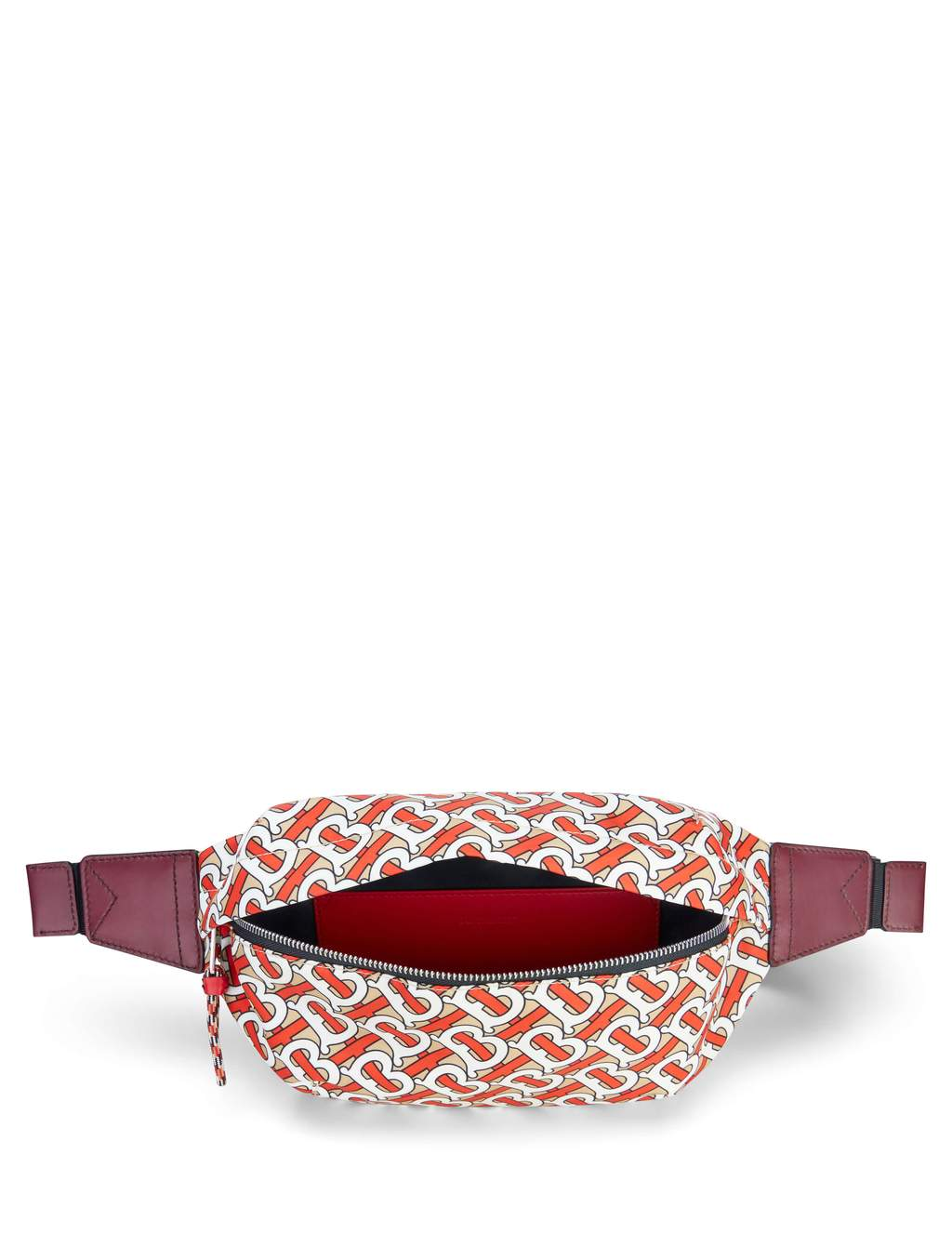 Burberry Men's Medium Monogram Print Bum Bag in Vermillion Nylon 8010744A4777