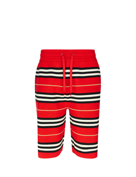 Burberry Men's Giulio Fashion Red Merino Wool Drawcord Shorts 8011579A1460