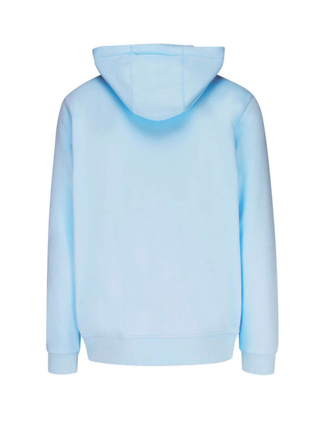 Burberry Men's Giulio Fashion Pale Blue Monogram Motif Cotton Hoodie 8017498A1397
