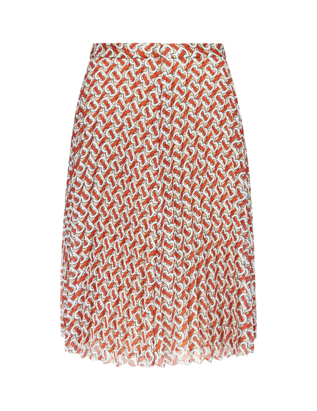 Burberry Women's Giulio Fashion Vermillion Red Monogram Pleated Skirt 8016520A7294