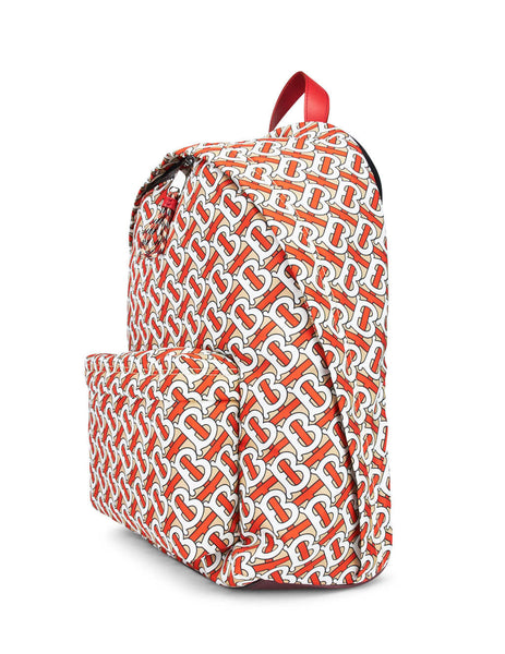 Burberry Men's Giulio Fashion Vermillion Monogram Print Nylon Backpack 8016107A4777