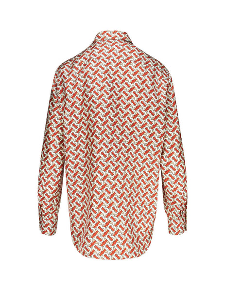 Burberry Women's Giulio Fashion Beige Monogram Print Shirt 8016683A7294