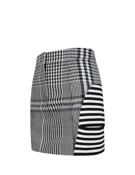 Women's Black Burberry Multi-Stripe Skirt 4564501 A1931