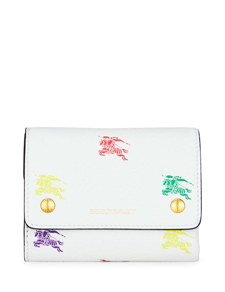 Burberry Women's Giulio Fashion White and Multicolour EKD Leather Wallet 8005827A2014
