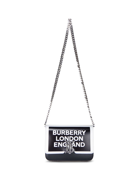 Burberry Women's Giulio Fashion Black Small Logo Print TB Bag 8012476A1189
