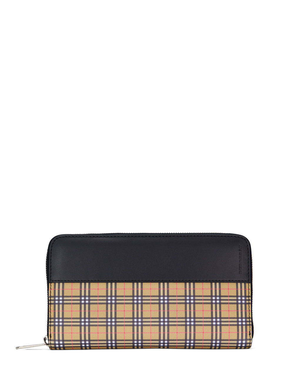 Burberry Men's Giulio Fashion Antique Yellow Small Scale Check Zip-Around Wallet 407805970450