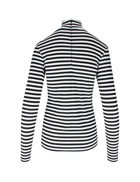 Women's Black & White Burberry Striped Top 4564514 A1931