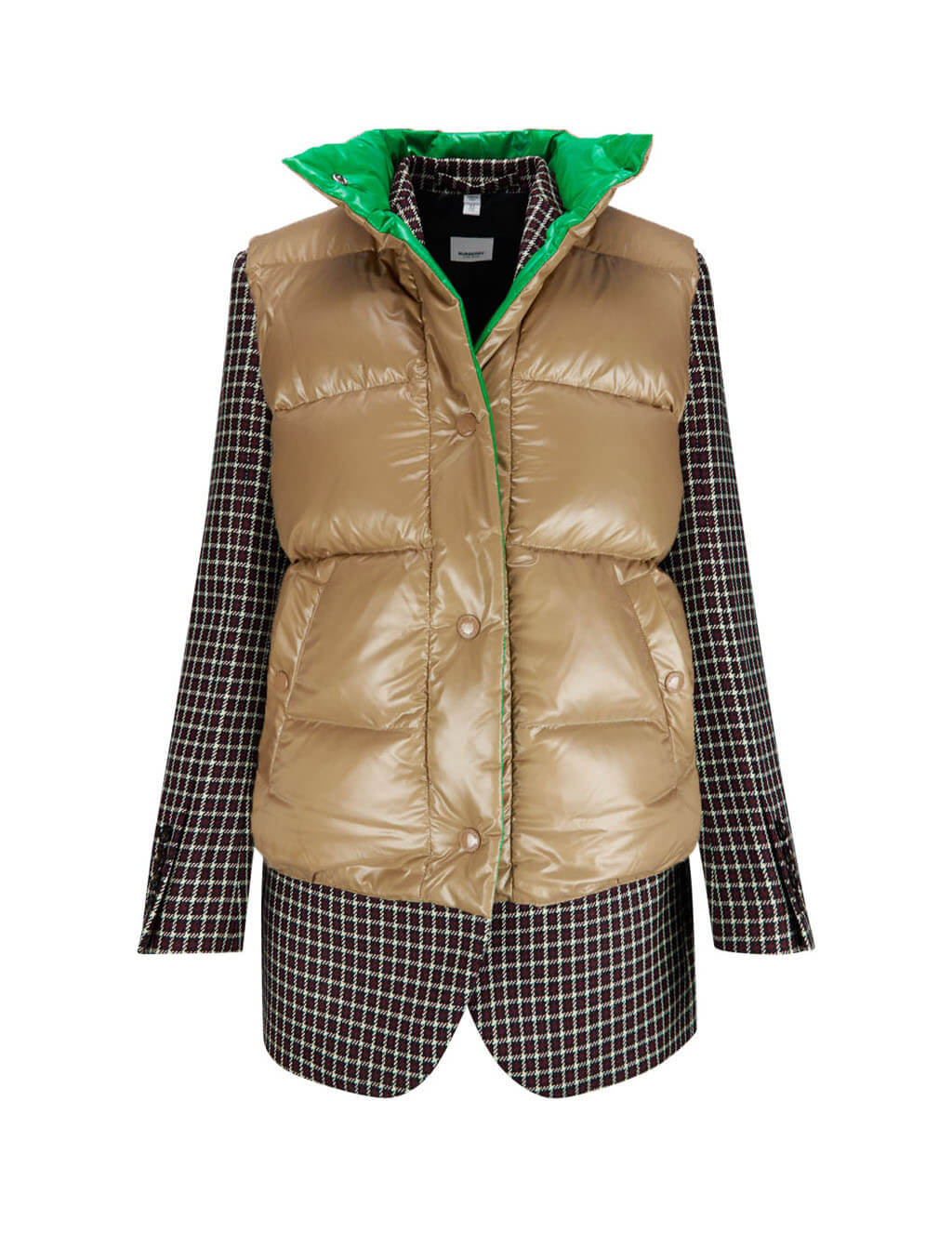 Burberry Women's Tartan Jacket With Detachable Gilet 4562571a5680