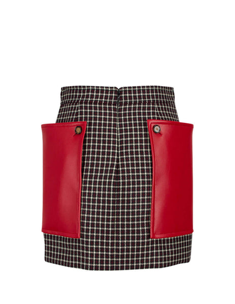 Burberry Women's Giulio Fashion Bordeaux Tartan Mini Skirt 4562319A5680