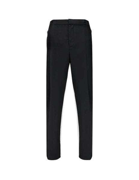Burberry Men's Giulio Fashion Black Two-Tone Trousers 4559027A1189
