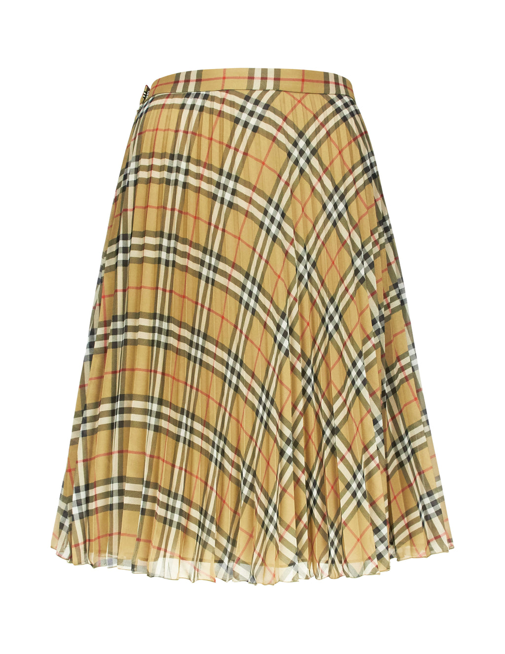 Burberry Women's Giulio Fashion Beige Vintage Check A-Line Skirt 8009059A7028