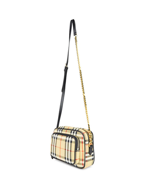 Burberry Women's Giulio Fashion Archive Beige Vintage Check Camera Bag 8015946A7026