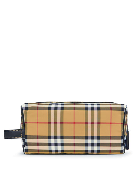 Burberry Vintage Check Wash Bag Antique Yellow 8006881A2442 Men's Giulio Fashion