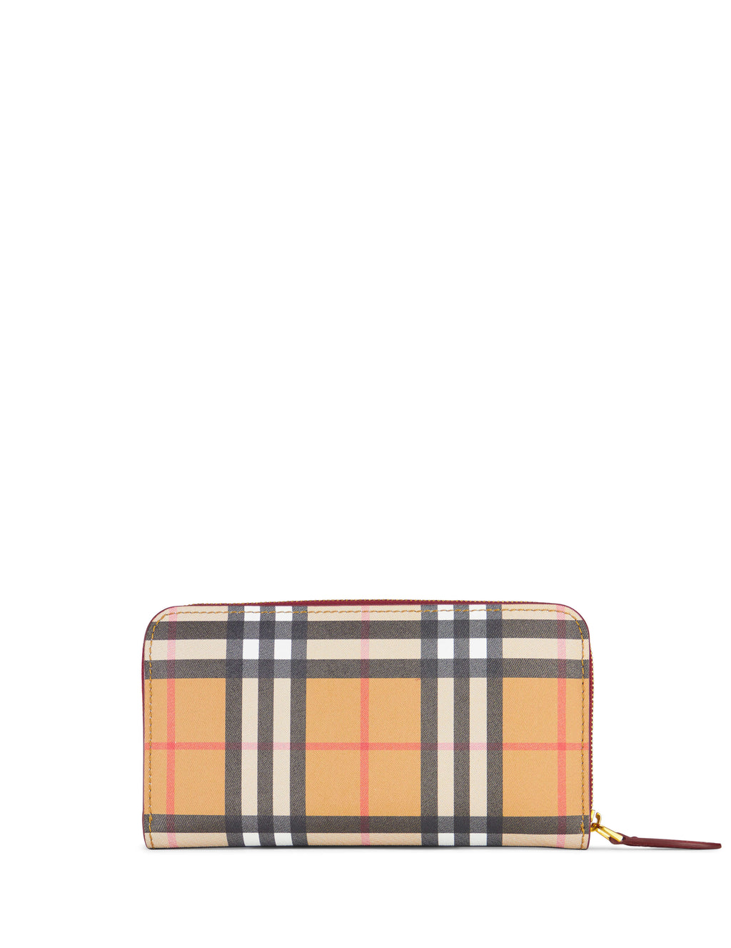 Burberry Vintage Check Ziparound Wallet Yellow/Crimson 408000860150 Women's Giulio Fashion