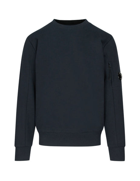 C.P. Company Navy Blue Fleece Lens Sweatshirt SS014A005160W888