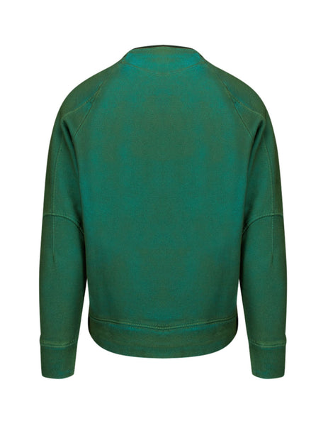C.P. Company Men's Giulio Fashion Green Painted Sweatshirt SS327A005296SV01