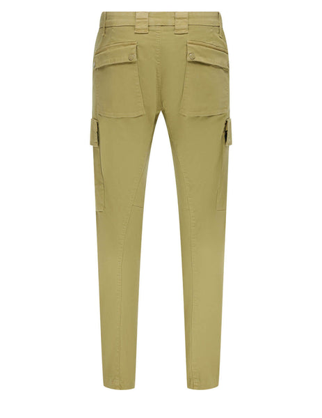Men's C.P. Company Cargo Badge Trousers in Cornstalk - 10CMPA154A005694G329