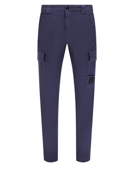 Men's C.P. Company Cargo Badge Trousers in Greystone Blue - 10CMPA154A005694G882