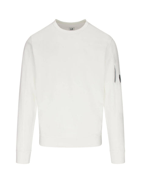 C.P. Company Men's Giulio Fashion Gauze White Casual Sweatshirt MSS001A002246G103