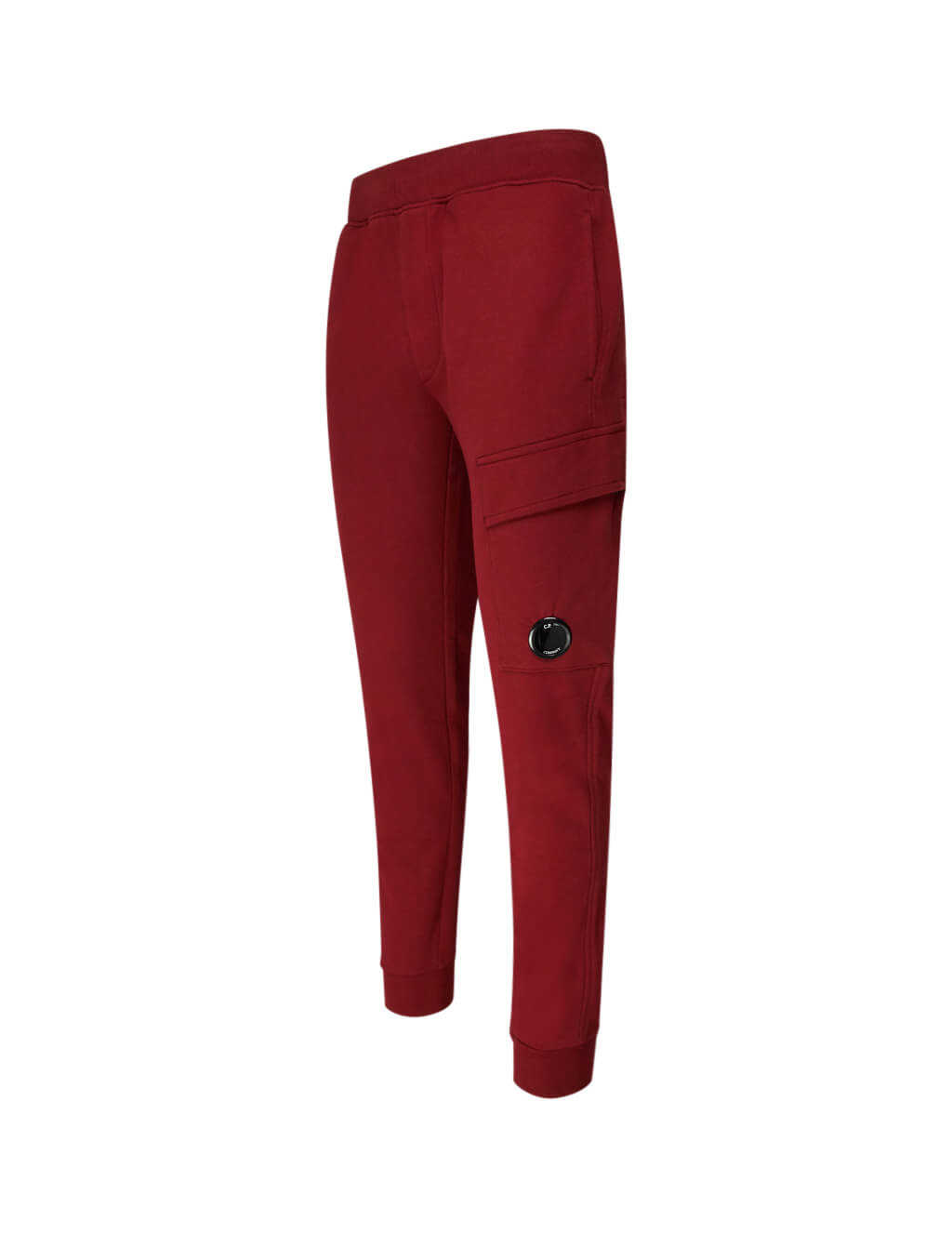 C.P. Company Men's Giulio Fashion Red Circular Badge Sweatpants 07CMSS004A005086W576