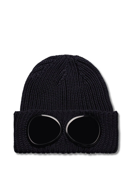 C.P. Company Men's Giulio Fashion Navy Goggle Knitted Hat  MAC239A005509A888