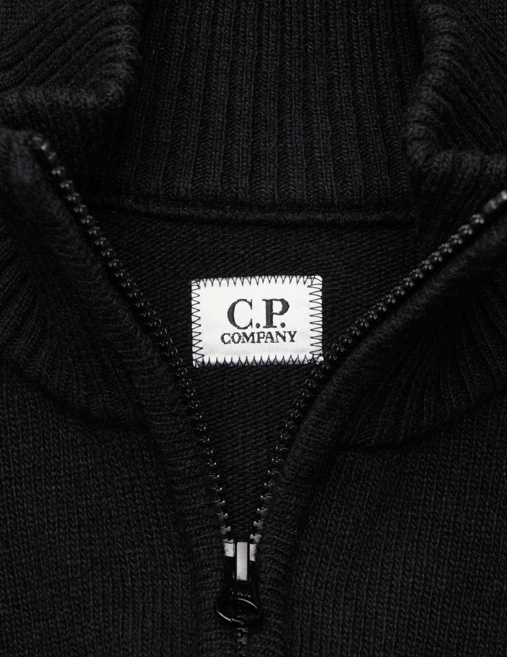 C.P. Company Men's Giulio Fashion Black Knitted Cardigan MKN159A005504A999