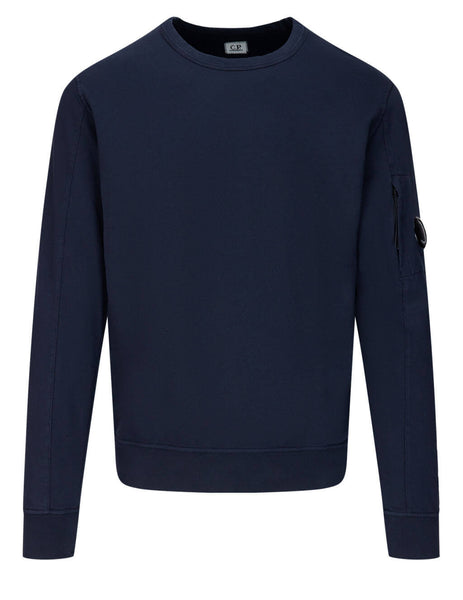 Men's C.P. Company Lens Sweatshirt in Total Eclipse - 10CMSS043A002246G888