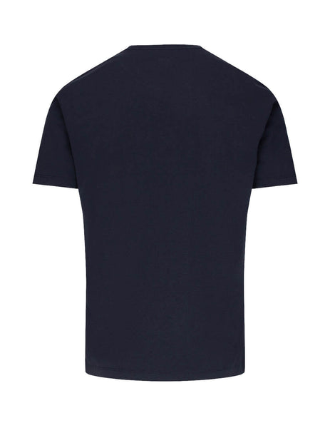 C.P. Company Men's Giulio Fashion Navy Logo Patch T-Shirt MTS026A005100W888