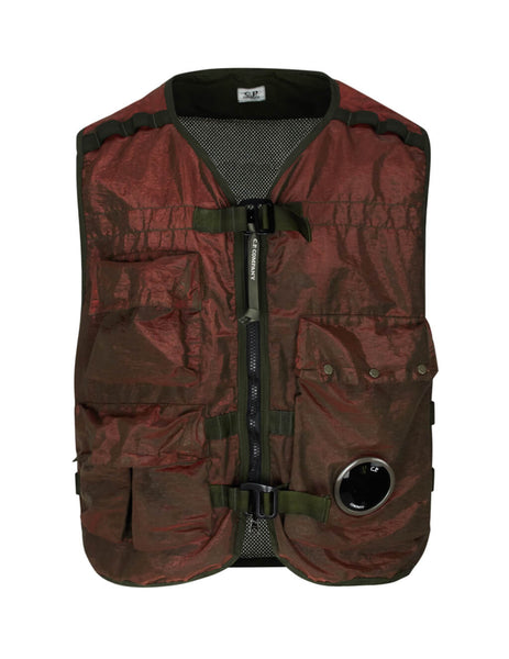 C.P. Company Men's Giulio Fashion Brown P.Ri.S.M Medium Iridescent Gilet OW311A005686GV03