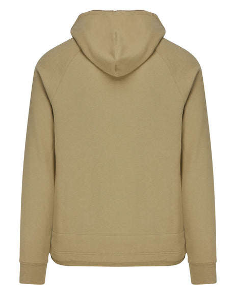 Men's C.P. Company Metropolis Series Diagonal Series Raised Fleece Hoodie in Cornstalk - 10CMSS049A005086W329