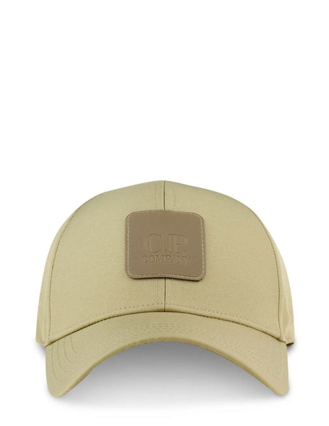 Men's C.P. Company Metropolis Series Logo Badge Cap in Cornstalk - 10CMAC093A005952A329