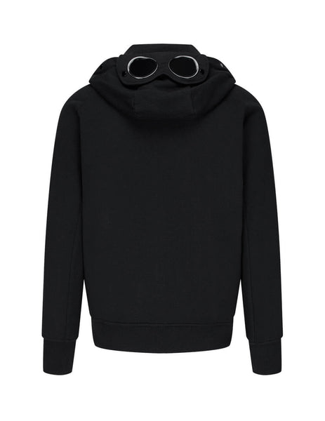 C.P. Company Men's Black Open Hooded Sweatshirt MSS009A005086W999