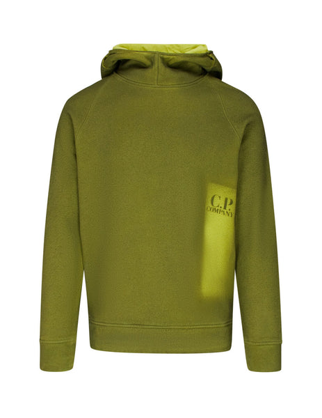 C.P. Company Men's Giulio Fashion Green P.Ri.S.M Painted Hoodie SS328A005296SV02