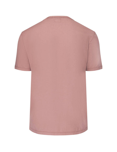 C.P. Company Men's Giulio Fashion Pink Printed Logo T-Shirt 07CMTS105A000444G583