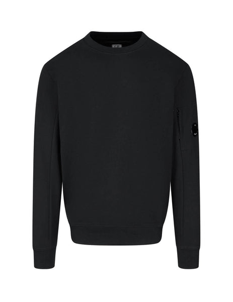 C.P. Company Men's Giulio Fashion Black Rear Tab Sweatshirt MSS039A005086W999
