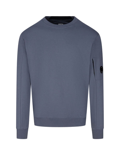 C.P. Company Men's Giulio Fashion Ombre Blue Rear Tab Sweatshirt MSS039A005086W884