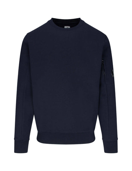 C.P. Company Men's Giulio Fashion Navy Rear Tab Sweatshirt MSS039A005086W888