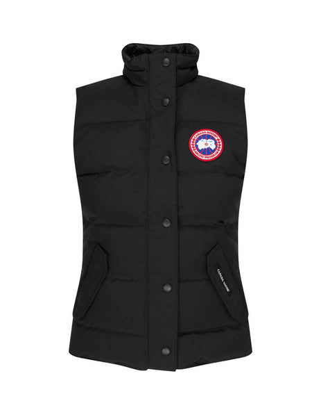womens canada goose freestyle gilet in black 2832L61