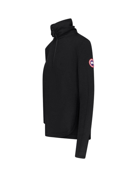 womens canada goose fairhaven quarter zip jumper in black 7013L61