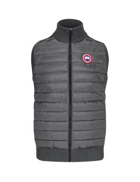 Canada Goose Men's Grey Hybridge Knitted Gilet 6829M699