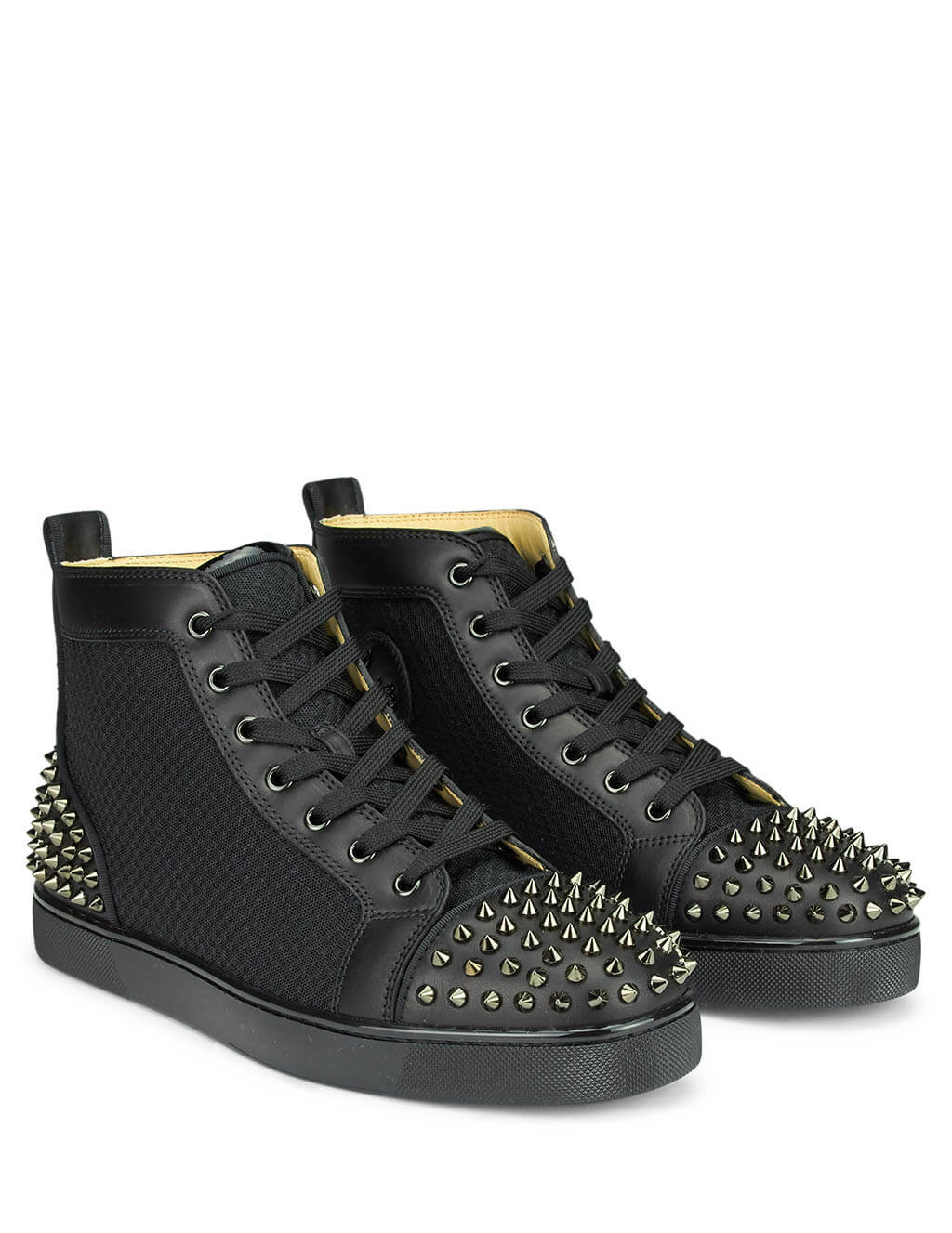 size 40 4be4c 210a5 Christian Louboutin Black AC Lou Spikes 2 Sneakers ...