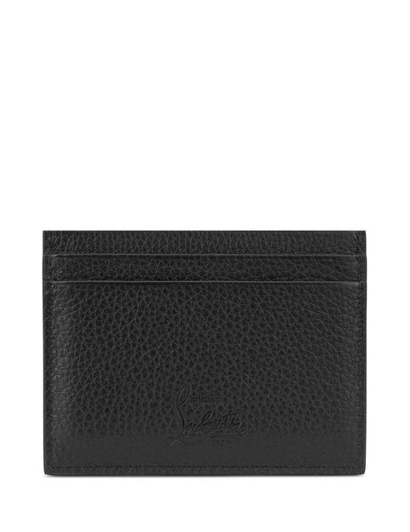Christian Louboutin Men's CL Logo Kios Cardholder Black/Red 3195195b078