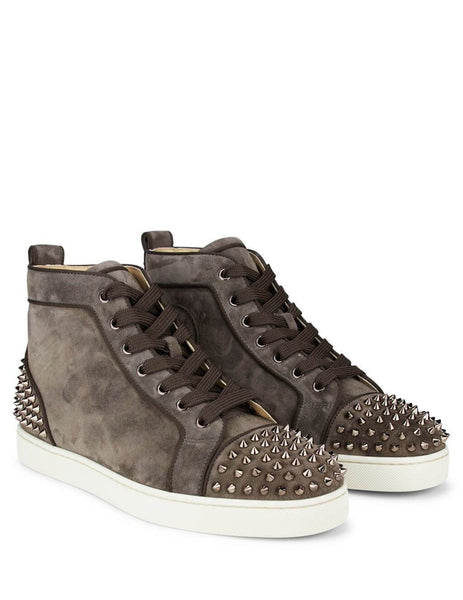 Christian Louboutin Lou Spikes 2 Orlato Sneakers Castor Grey/Metal Africa 3190914C567